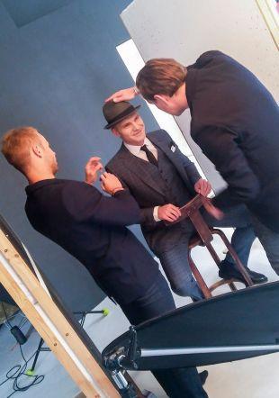 Ott Leplandi photoshoot backstage