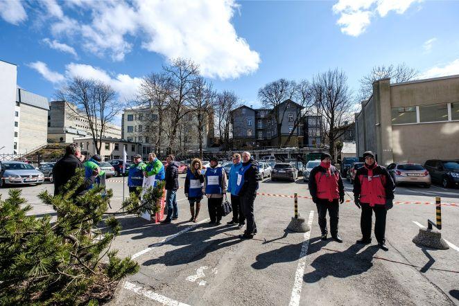 Eesti Energia töötajate pikett Rahandusministeeriumi juures