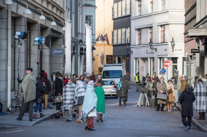 """""""Seltsimees laps"""" filmivõtted Tallinna kesklinnas"""