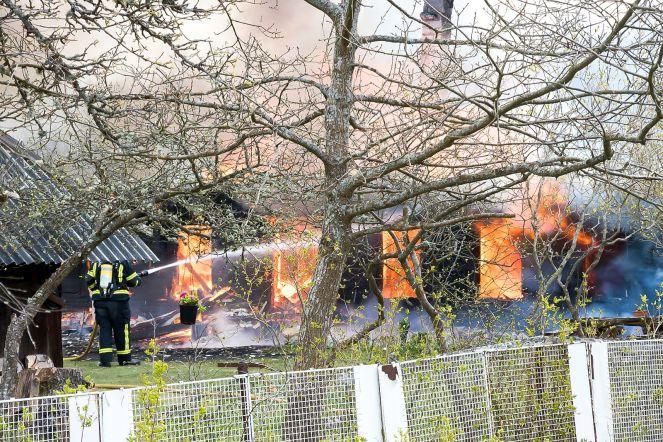 Kaavi külas tulekahju, Saaremaa