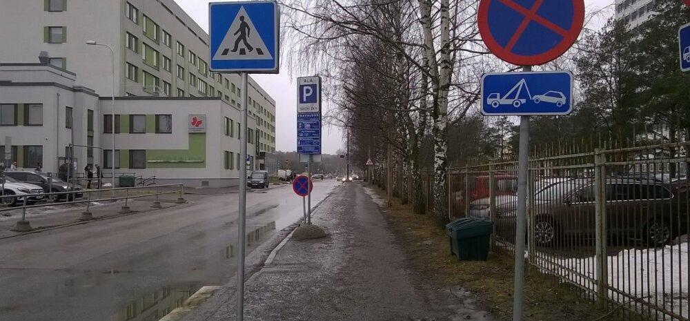 FOTO: Lugeja kaebus tõi muutuse – lastehaigla juures likvideeriti parkimissegadus