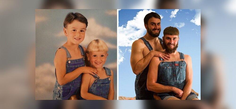 Äge GALERII: täiskasvanud taaslavastavad oma kunagisi piinlikke lapsepõlvepilte