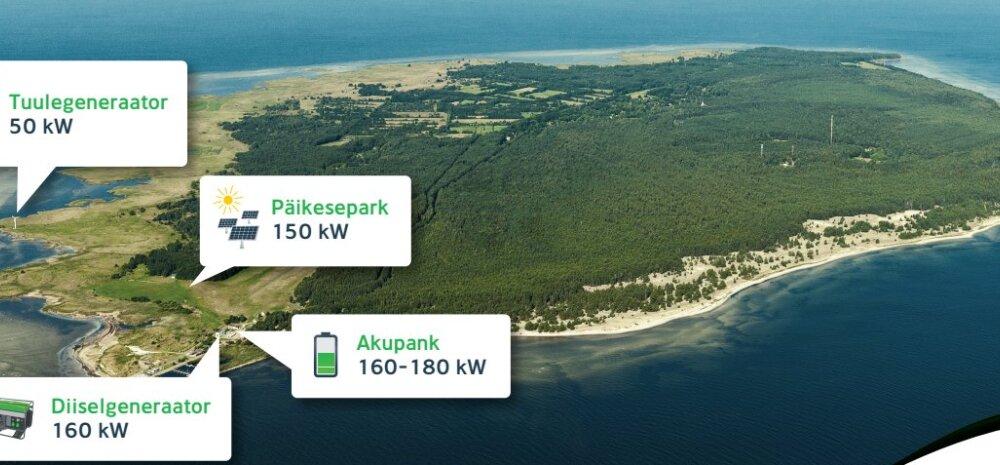 Ruhnu saar saab piirkonnas unikaalse taastuvenergialahenduse