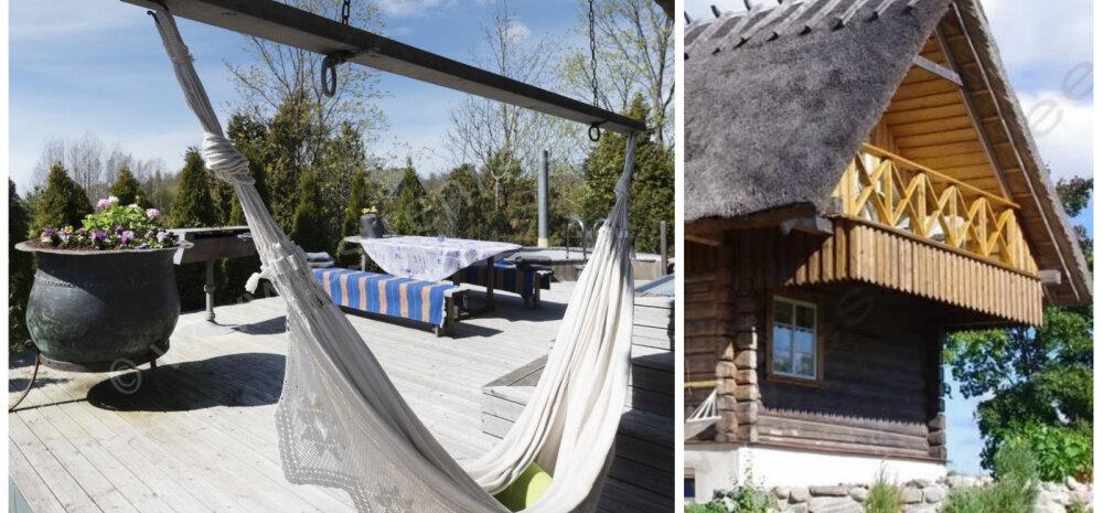 Красота по-скандинавски: бревенчатый дом с купелью под Пярну
