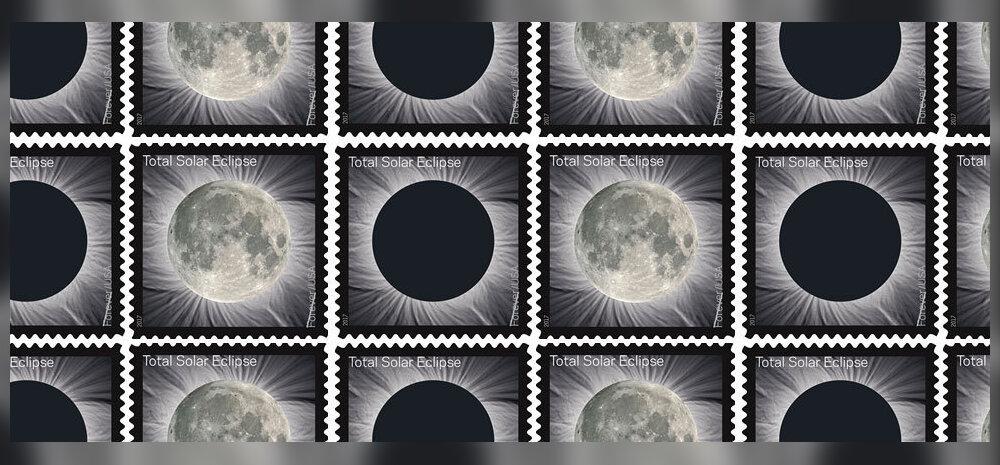 Päikesevarjutuse auks annab USA postiteenistus välja pilti muutva postmargi