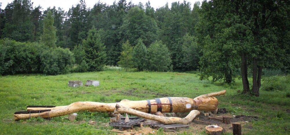 Avinurme püstitatakse 10-meetrine Kalevipoja kuju