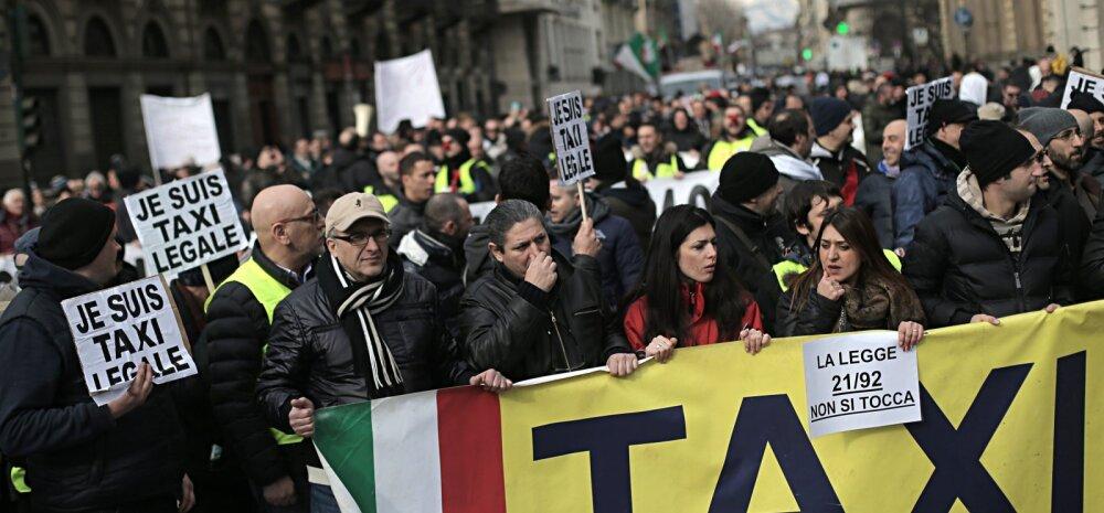Uber oli sunnitud ka Itaalias taksojuhtidele alla vanduma