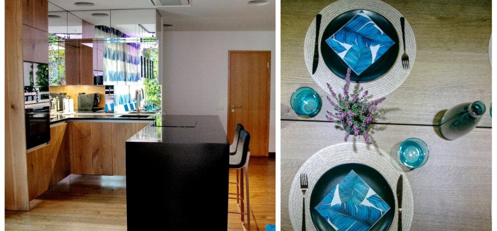 """""""MEIE KODU 2018"""" │ Julge joonega köök, kus on kasutatud rohkelt peegleid"""