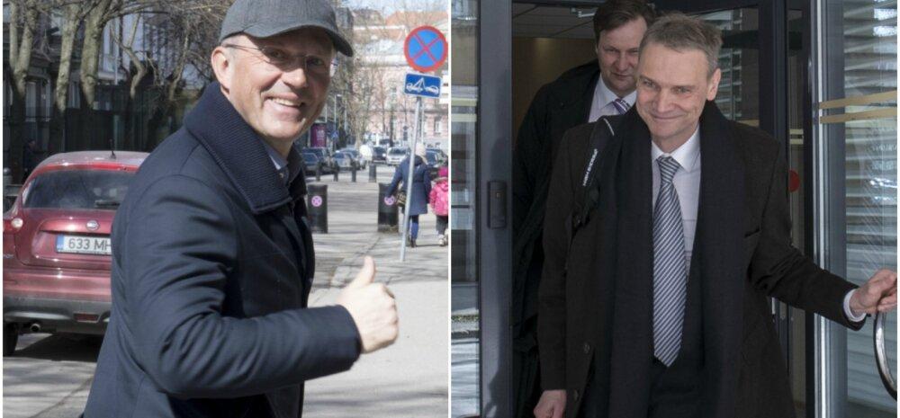 Toomas Annus (vasakul) ja Marek Kiisa täna pärast kohtulahingut.