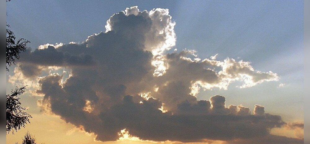 loodus, pilv,päike, loojang