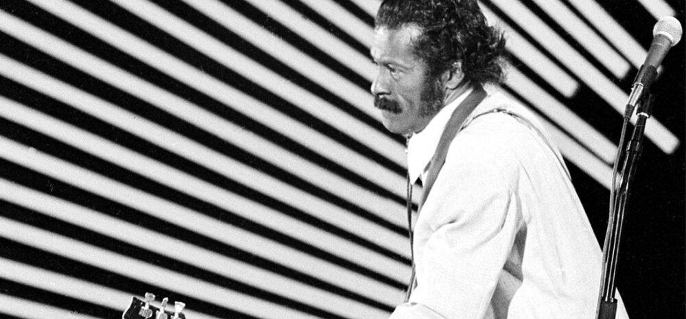 Chuck Berry olevat oma duck walk'i ehk pardikõnni välja mõelnud juba lapsena.1980. aasta foto
