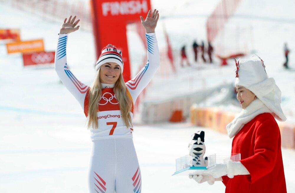 Kolmekordne olümpiamedalist Lindsey Vonn