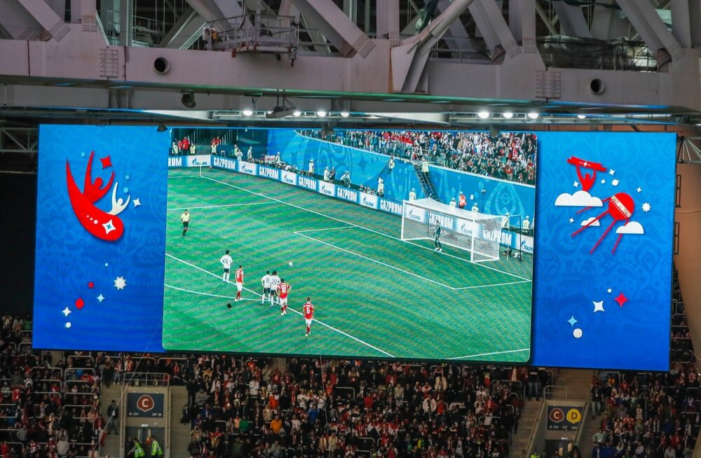Melu Peterburi staadionil Venemaa-Egiptuse mängu eel ja ajal-1