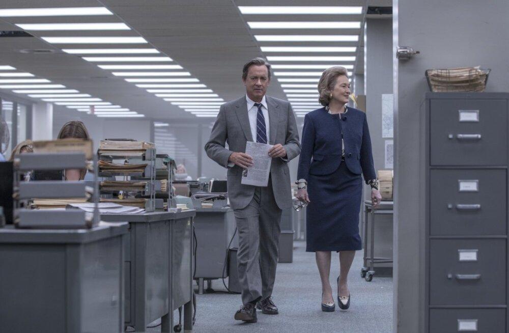 """""""Salajaste paberite"""" kandva duo moodustavad Tom Hanks ja Meryl Streep. Ühtlasi on see esimene film, kus need tippnäitlejad ekraanil kohtuvad."""
