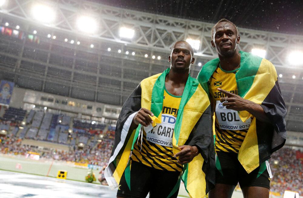 Kullast ilma jäänud Bolt ei kanna Carteri peale vimma