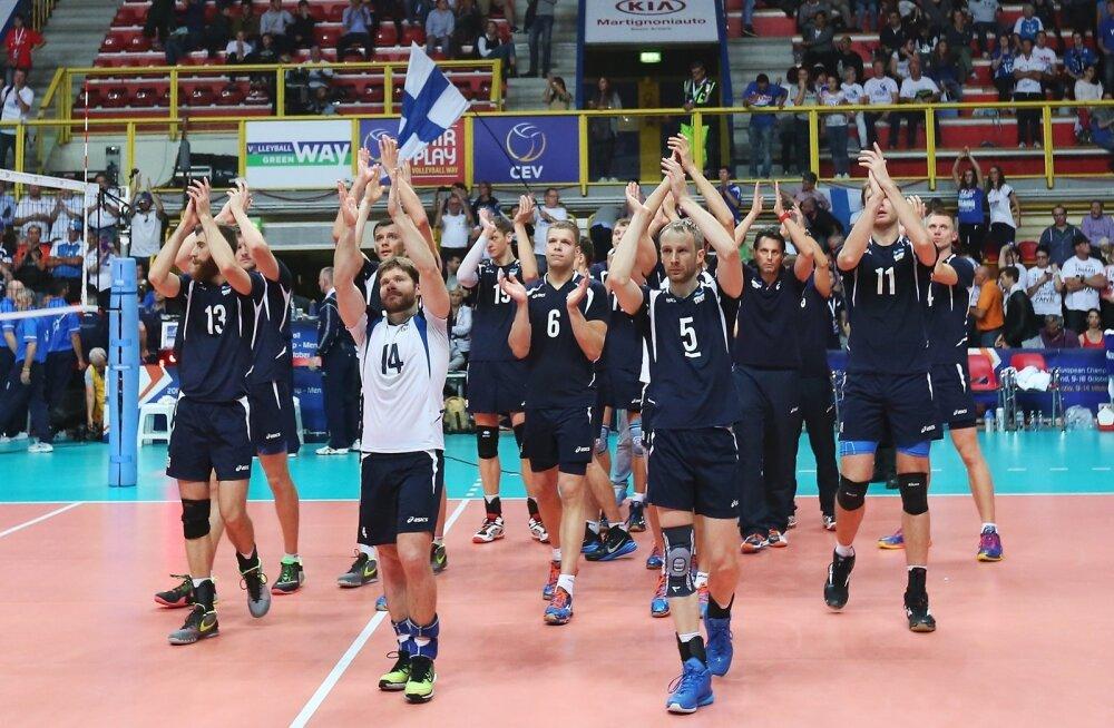 Eesti v Serbia võrkpallikoondise play-off mäng EM finaalturniiril Pala Yamamay Arenal Busto Arsizios.