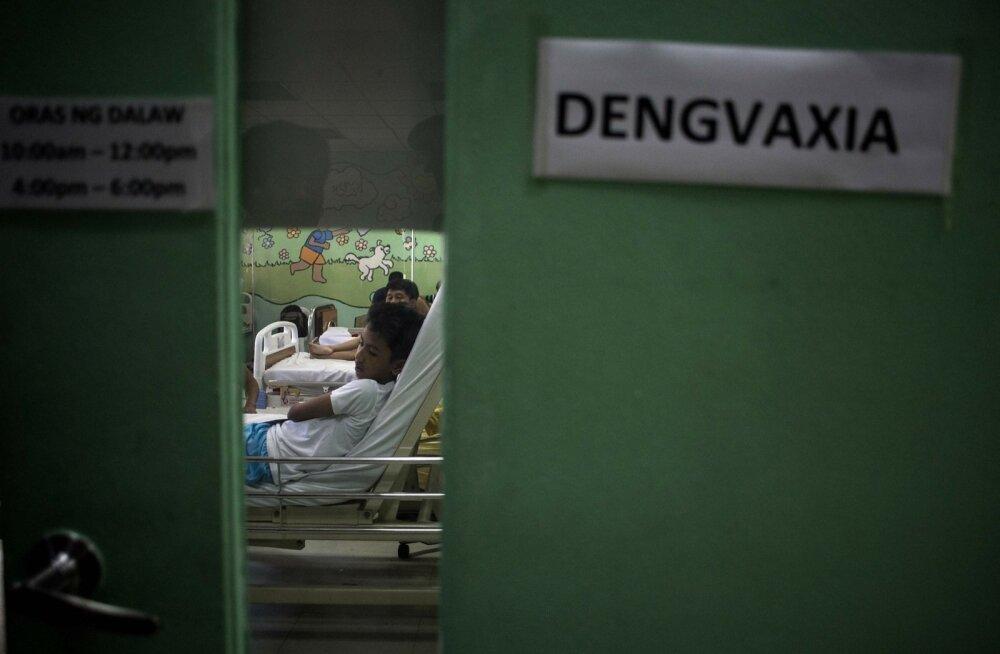 Dengvaxia vaktsiini saanud patsiendid Filipiinide pealinnas Manilas meditsiinikeskuses