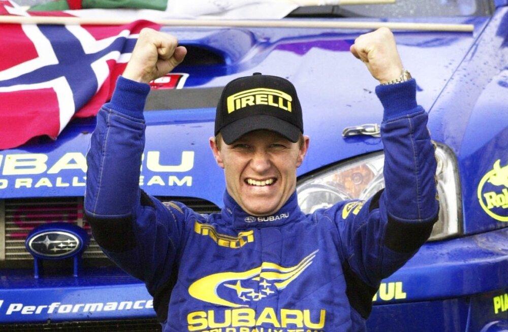 Petter Solberg sõitis 2003. aasta viimasel rallil põhirivaali puhtalt üle.