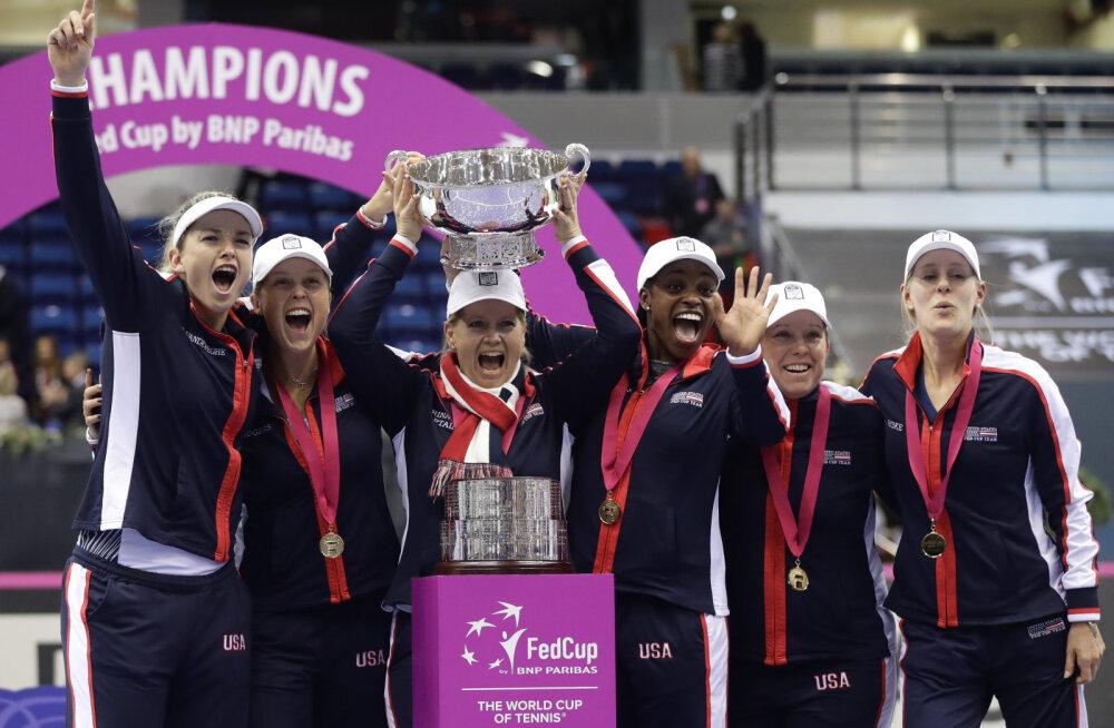 USA tennisenaiskond tuli 18. korda Fed Cupi meistriks