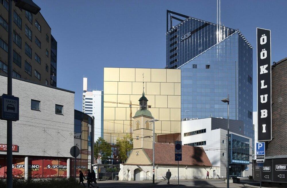 Selline hoone võib tulevikus kerkida Tallinna südalinna EELK kinnistule.