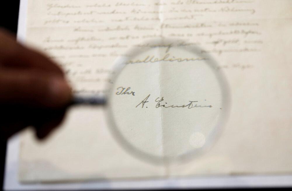 FOTOD   Albert Einsteini haruldased kirjad müüdi oksjonil