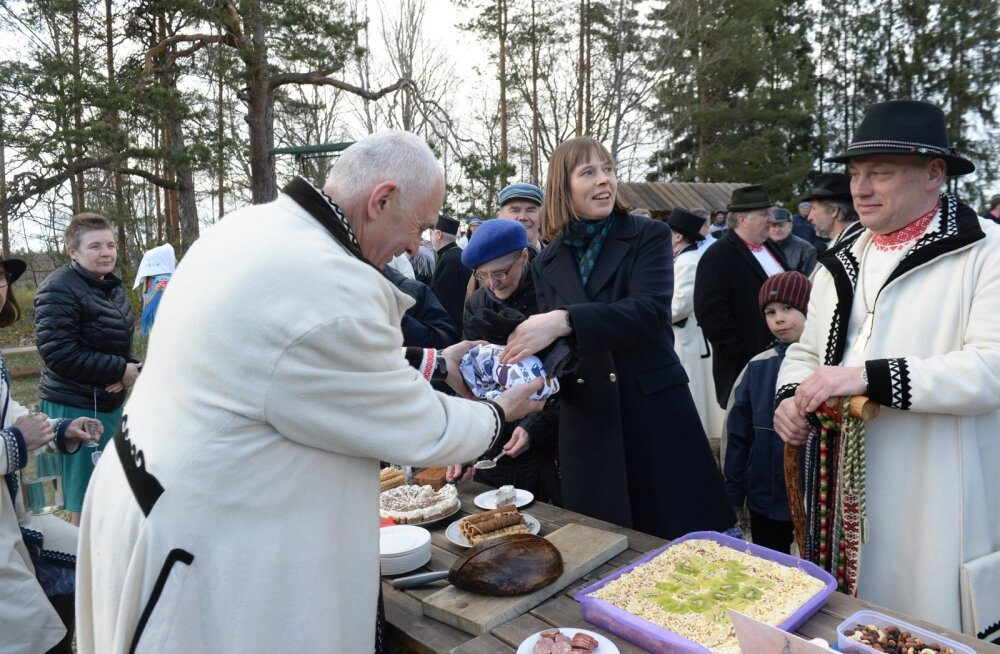 Kersti Kaljulaid Setumaal.