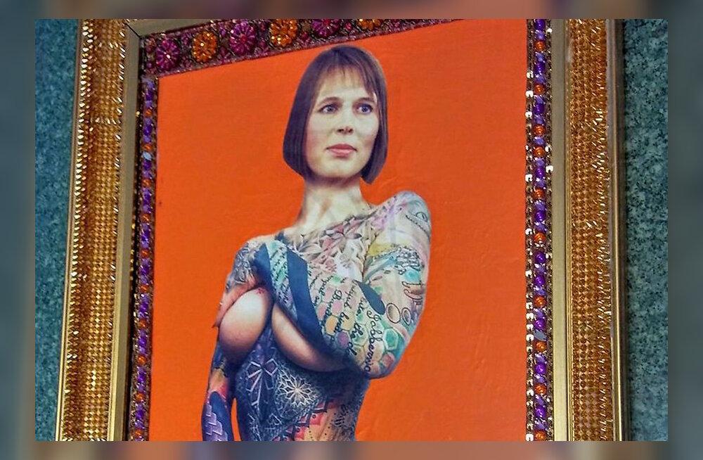 ФОТО: Картину с обнаженной Керсти Кальюлайд продали за семь минут