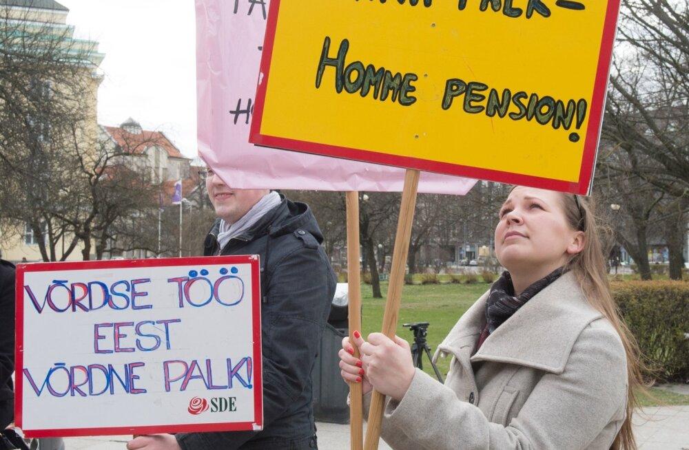 Soolise palgalõhe vastu suunatud pikett