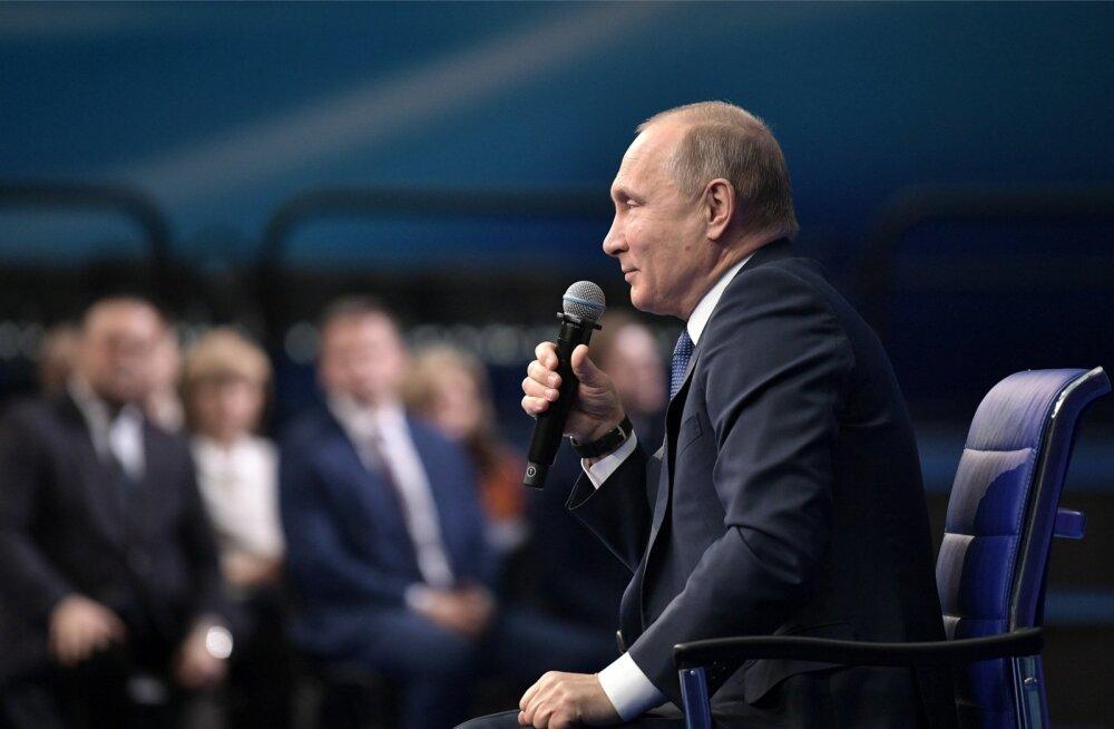 Teisipäeval valijatega kohtunud Putin nimetas USA käiku vaenulikuks, kuid teatas ühtlasi, et esialgu vastusamme ei astuta.