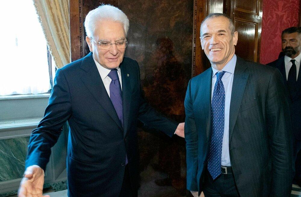 Itaalia president nimetas ajutise peaministri ja suunas riigi uute valimiste teele