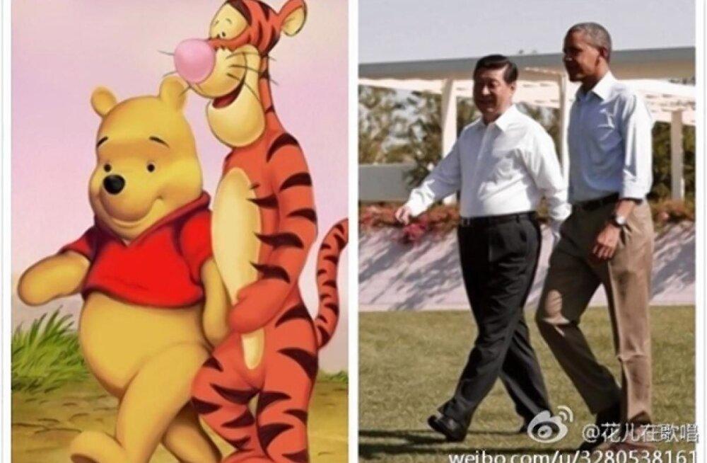 Winnie Puhh ja Hiina president Xi Jinping.