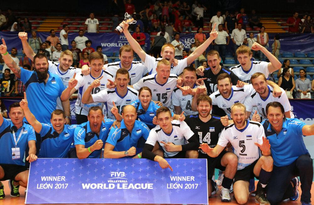 FOTOD: Imeline! Eesti võrkpallikoondis seljatas Maailmaliiga finaalis Hispaania!