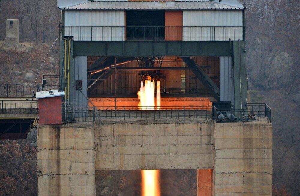 Lõuna-Korea: Põhja-Korea rakettmootori katsetus näitab olulist edasiminekut