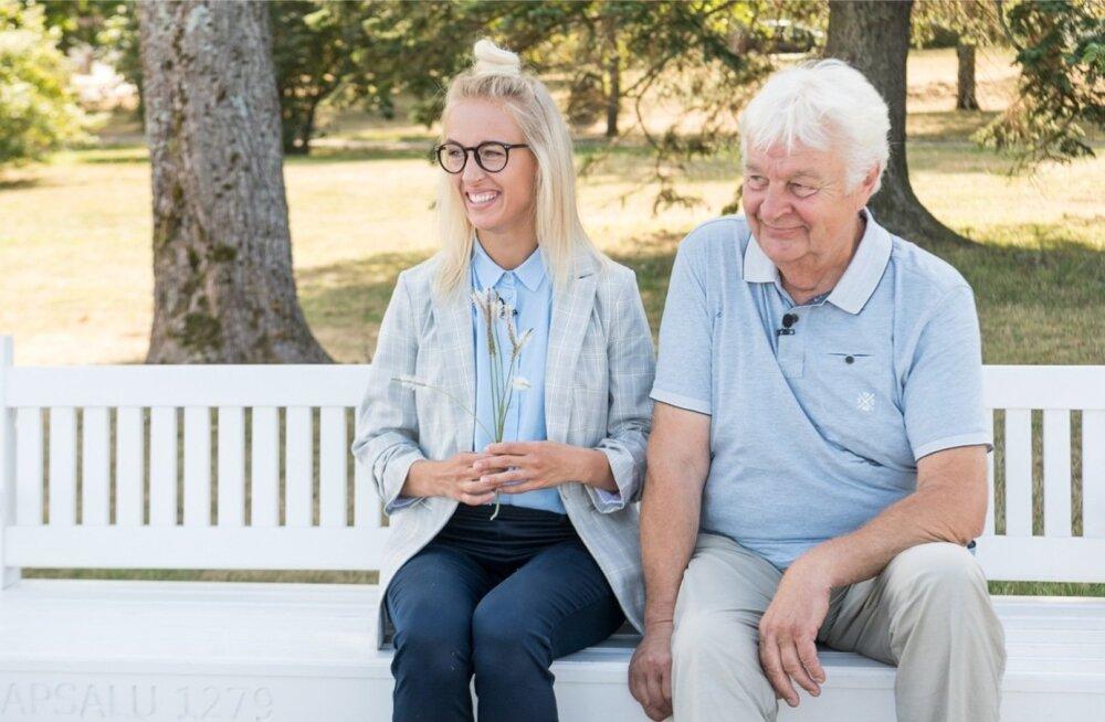 """Sel sügisel jõudis ETV ekraanile """"Reis ümber Eesti"""". Pildil on saatejuhid Ivo Linna ja Liisa Pulk."""