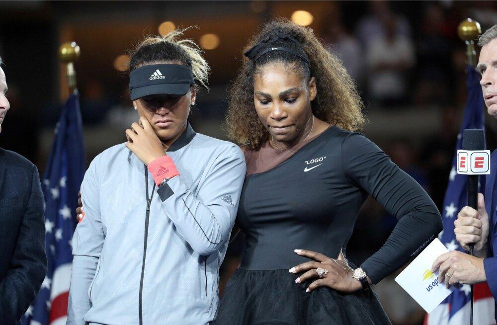 US Openi finaal tekitas nii Naomi Osakale (vasakul) kui ka Serena Williamsile väga erinevaid emotsioone.