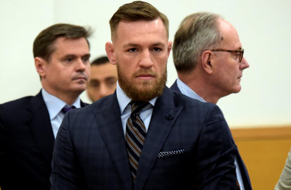 Vabavõitleja Conor McGregor käis kohtus bussirünnaku kohta aru andmas