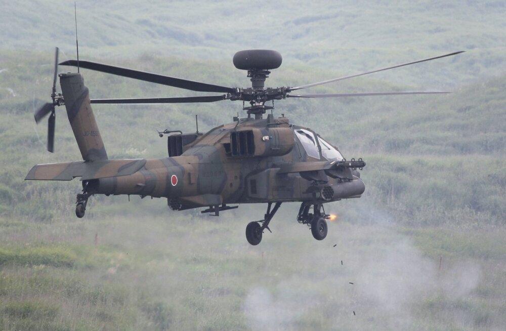 VIDEO | Jaapanis kukkus sõjaväe helikopter elamupiirkonda