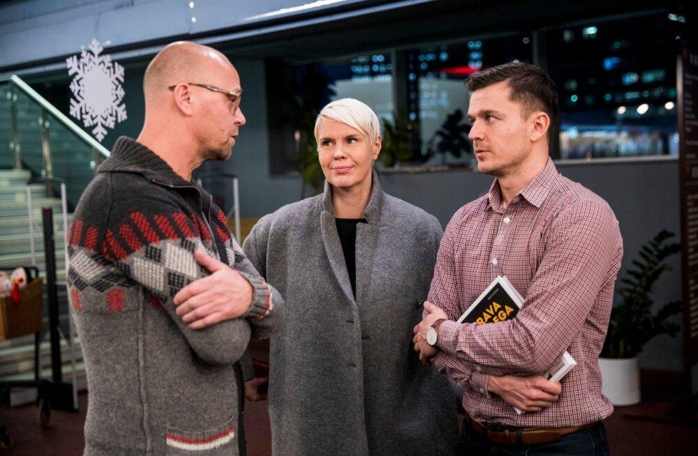 Need, kellest sageli ei räägita: võrkpalliliidu turundus- ja kommunikatsioonijuht Toomas Vara, tegevjuht Helen Veermäe ja koondise mänedžer Robin Ristmäe.