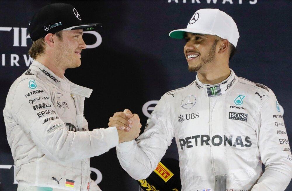 Nico Rosberg ja Lewis Hamilton