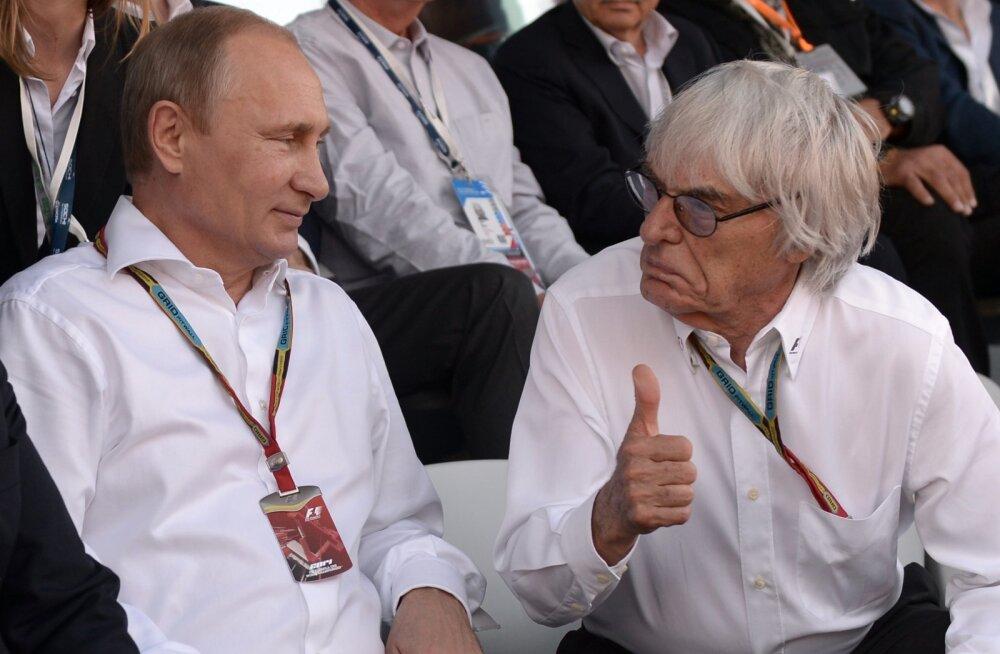 Vladimir Putin ja Bernie Ecclestone Sotšis
