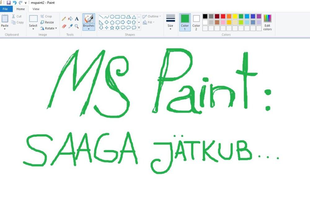 Ei, see ei ole lõpp: MS Paint jääb siiski alles, lihtsalt kolib pisut, teatas Microsoft