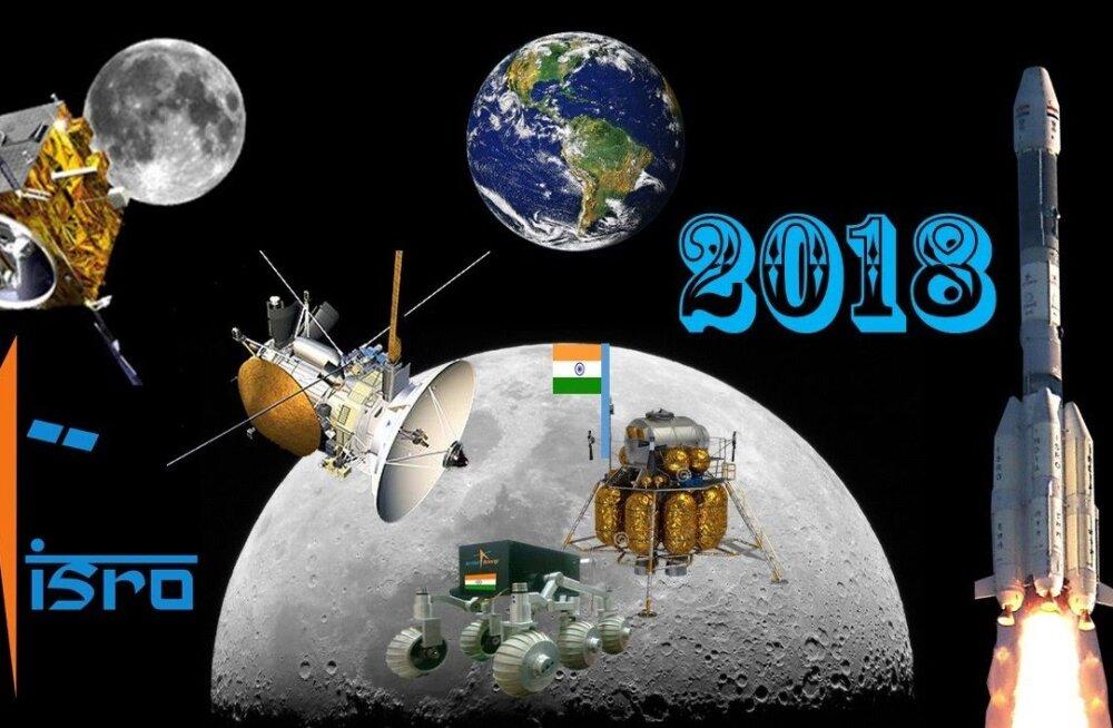 Enneolematu sihtpunkt: juba lähinädalail stardib India kosmosemissioon eesmärgiga laskuda Kuu lõunanabale