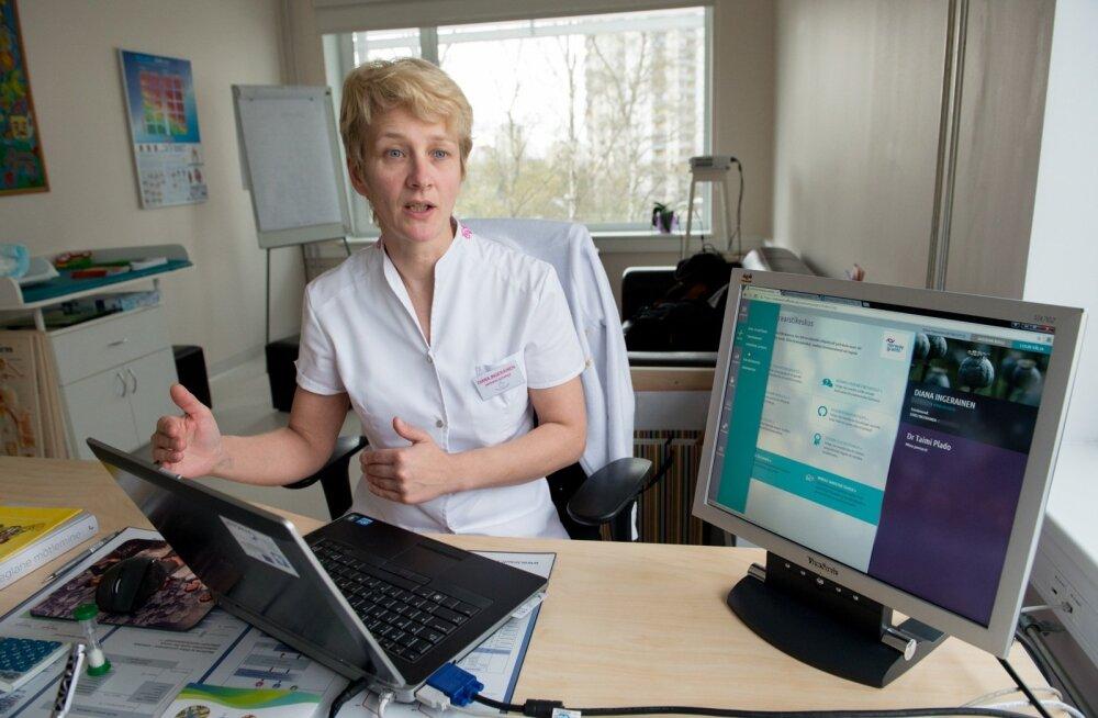 Perearstide seltsi juhatuse esimees Diana Ingerainen.