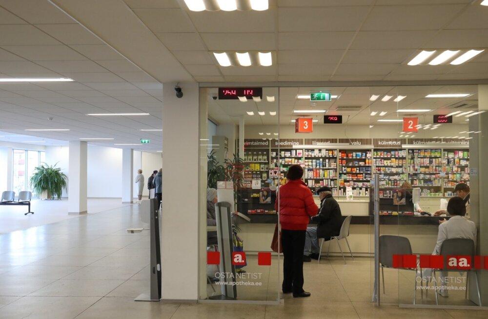 PERH-i fuajees üürilepinguta tegutsev Apotheka apteek on endiselt avatud.