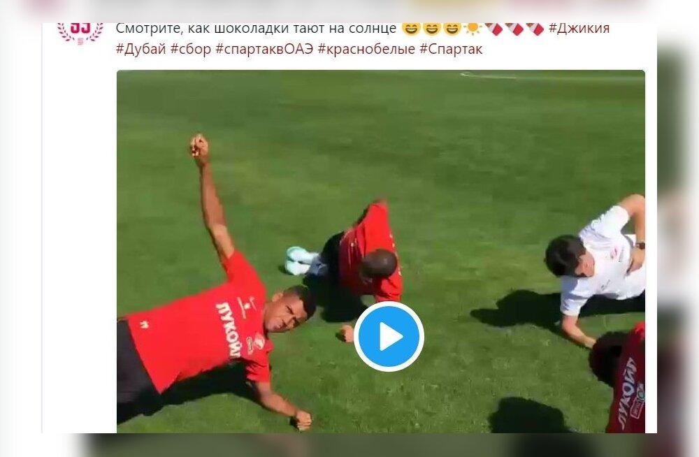 Moskva Spartaki poolt Instagrami tehtud skandaalne postitus.
