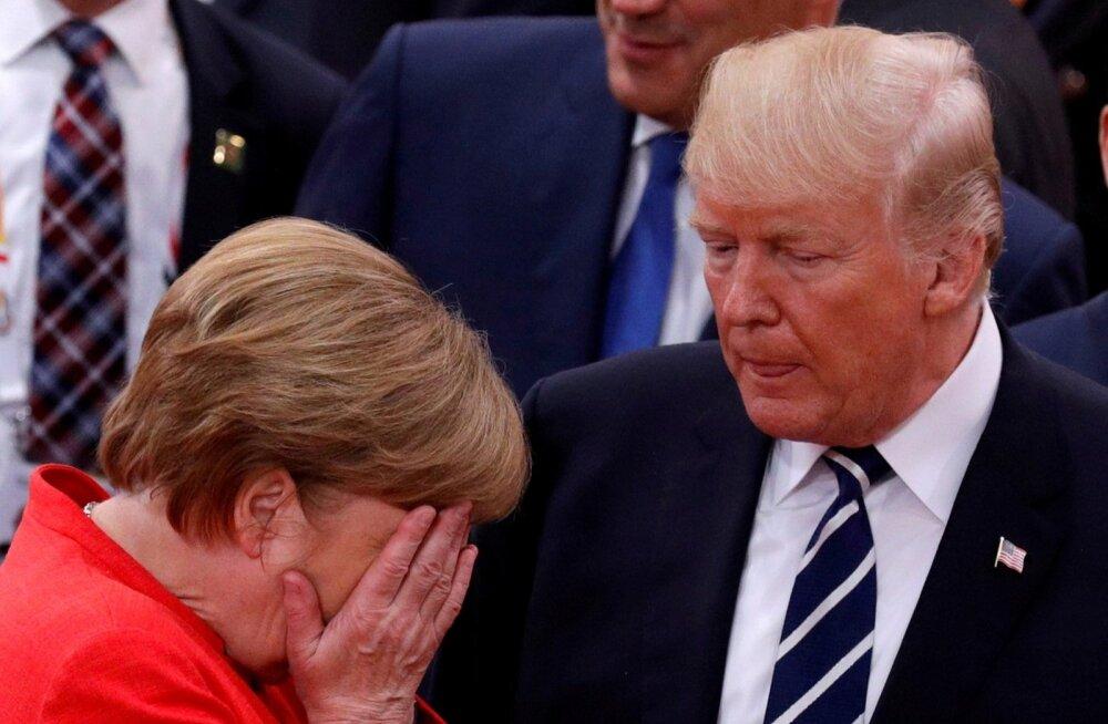 NYT: Merkel pidi esimesel kohtumisel end tagasi hoidma, et vältida Trumpi võhiklikkuse paljastamist