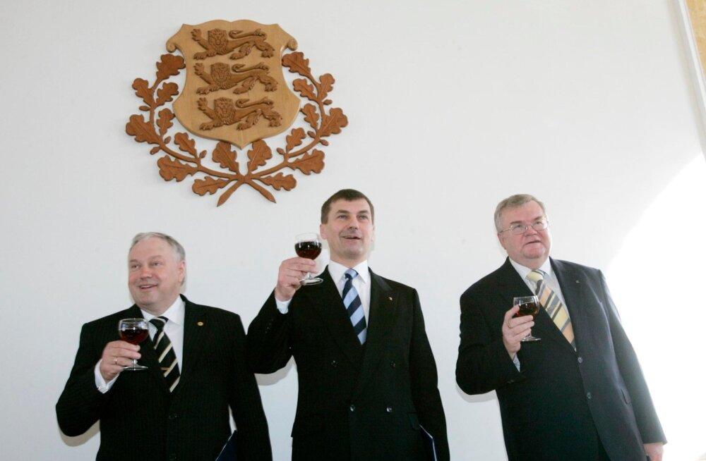 2005.-2007. aastal valitses Eestit Reformierakonna, Keskerakonna ja Rahvaliidu koalitsioon