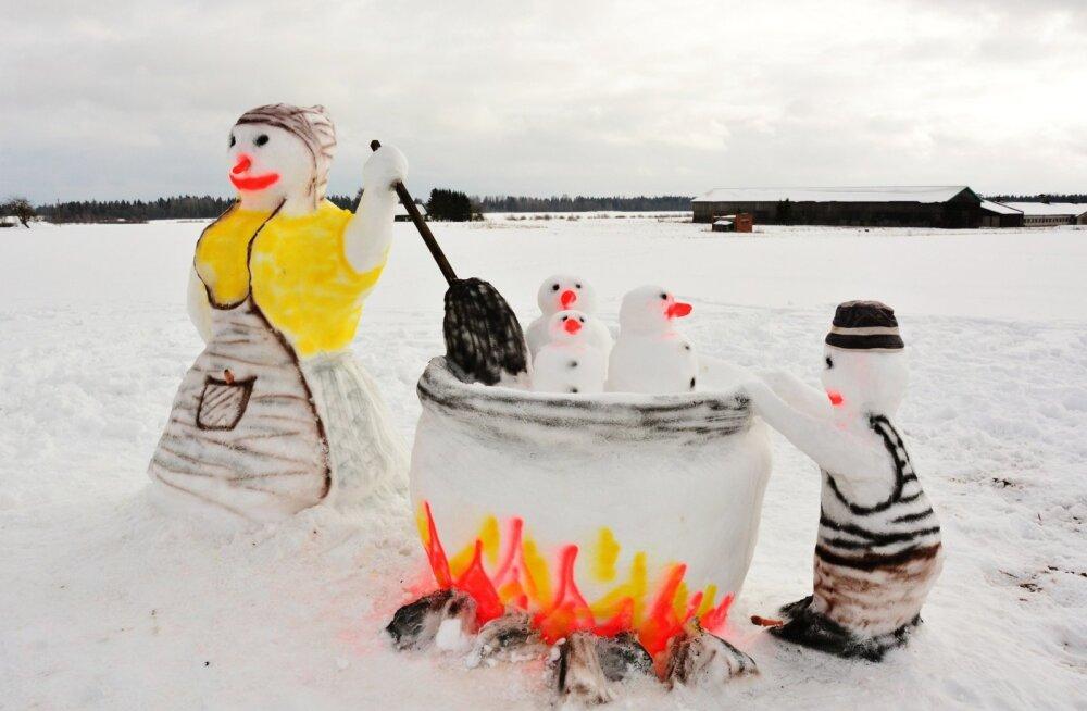 Väätsal plaanitakse laupäeval ehitada korraga vähemalt 2229 lumememme