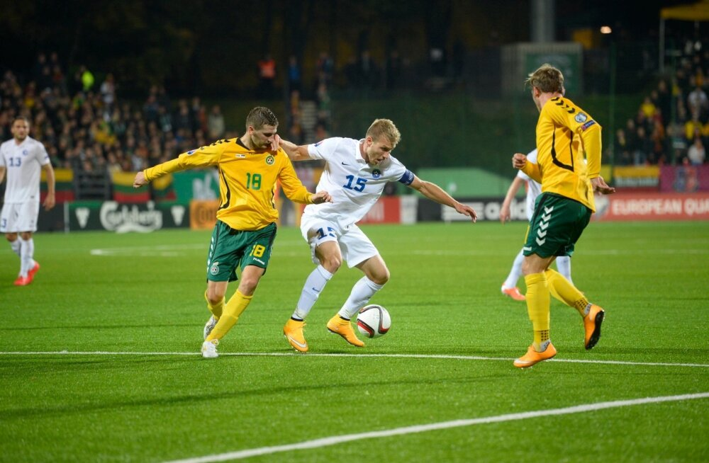 Leedul pole praegu nii säravat koondislast kui meil Ragnar Klavan (nr 15). Ometi võideti oktoobris Vilniuses Eestit 1 : 0.