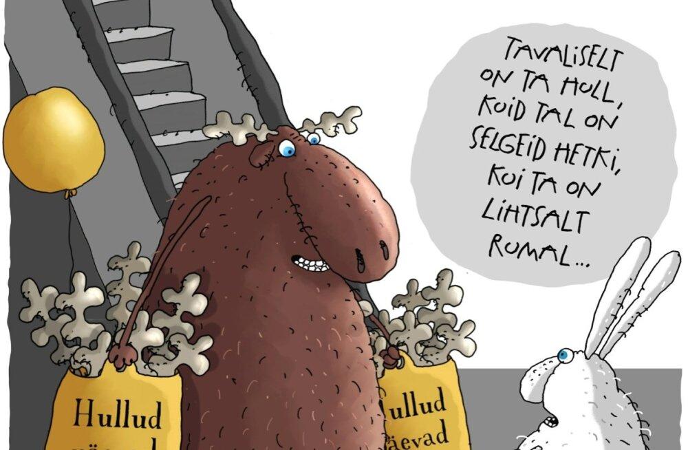Karikatuur | Parem olla selgelt rumal kui hull...